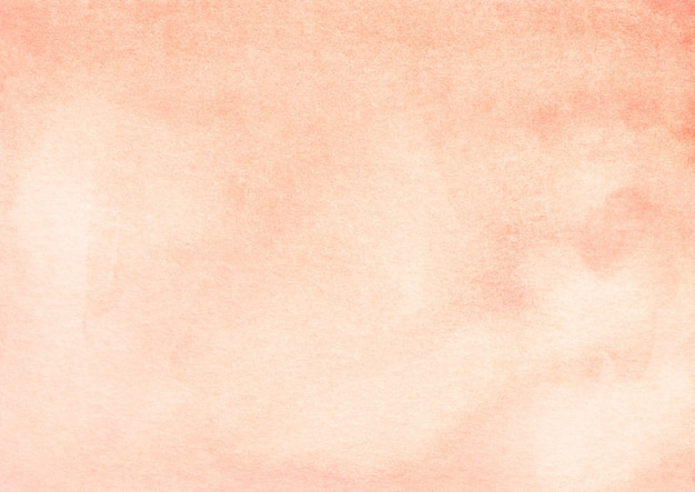Watercolor light orange gradient background texture