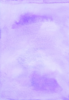 Watercolor light purple background texture. aquarelle abstract pastel violet stains backdrop. hand painted