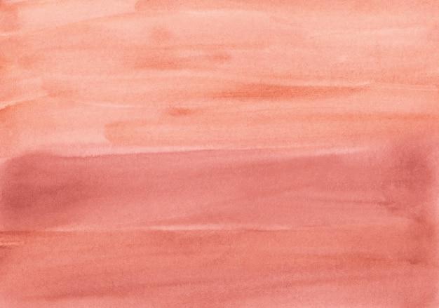 Акварель светло-красный фон. мазки по бумаге. ручная роспись кораллового фона.