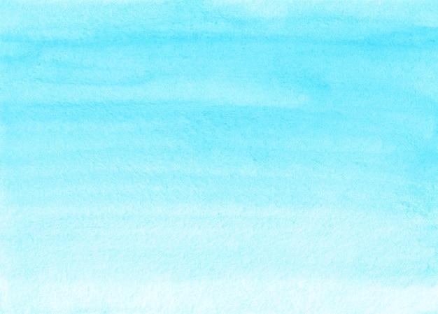 수채화 빛 하늘색 선염 배경 텍스처입니다. 해당 추상 파스텔 하늘색 그라데이션 배경입니다. 수채화 수평 유행 템플릿입니다. 질감 종이.