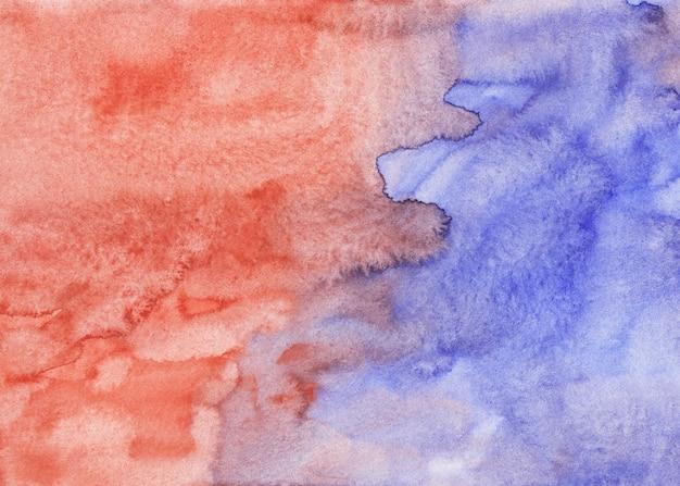 水彩ライトバイオレットと赤茶色の背景の絵のテクスチャ。色とりどりの水彩パステル背景、紙の上の汚れ。