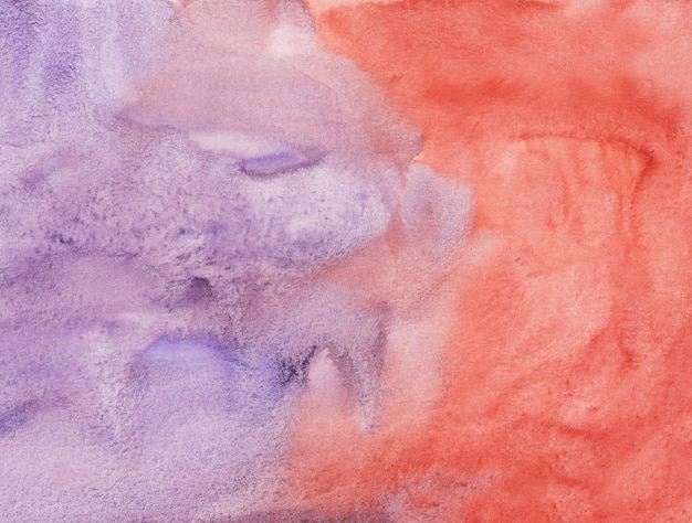 Watercolor light violet and red background painting texture