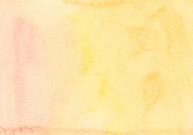 Watercolor light yellow and orange background texture