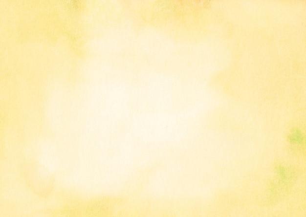 水彩の薄黄色の表面