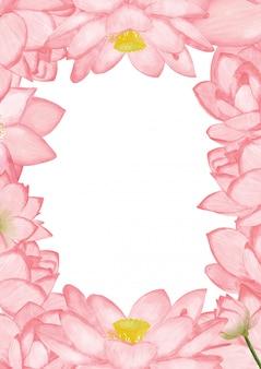 수채화 연꽃 배경