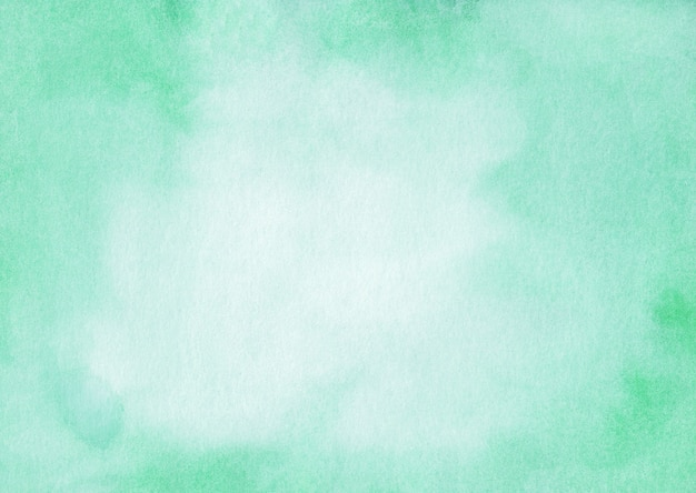 Watercolor mint color and white surface