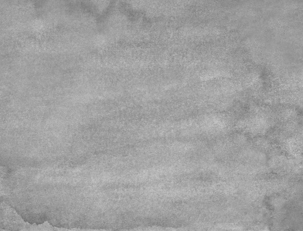Watercolor old gray background painting. monochrome calm grunge  overlay.  grey stains on paper texture.