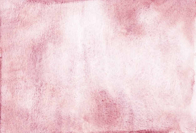 수채화 오래 된 분홍색 배경 텍스처입니다. 거친 수채화 배경, 손으로 그린