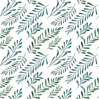 수채화 올리브 원활한 패턴