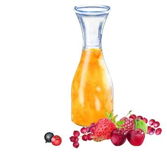 Акварельный апельсиновый сок