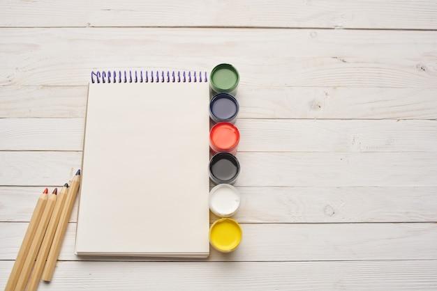 水彩絵の具メモ帳鉛筆アートデッサン