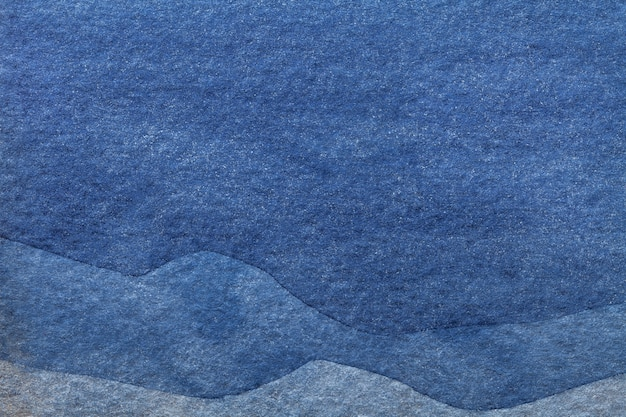 Watercolor painting on canvas with denim pattern of sea waves