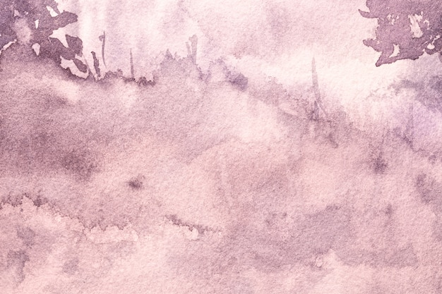 Watercolor painting on canvas with violet stains