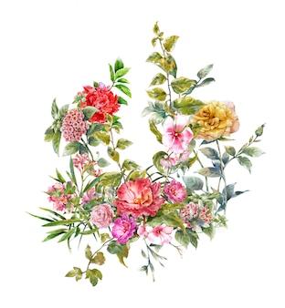 花の水彩画