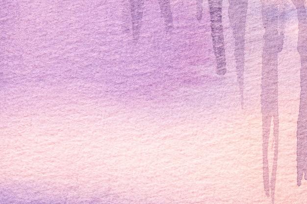 ライラックのグラデーションでキャンバスに水彩画。