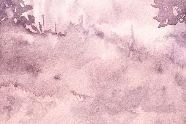紫の汚れでキャンバスに水彩画