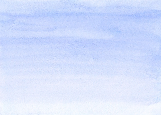 수채화 파스텔 블루 그라데이션 배경 손으로 그린. 수채화 밝은 파란색 회색 텍스처.