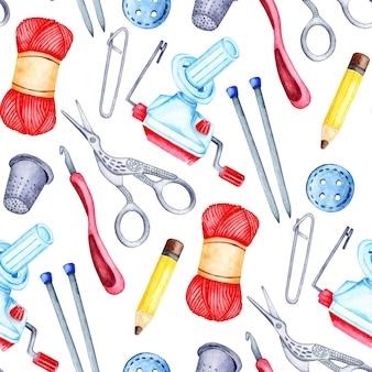 수채화 패턴 뜨개질 도구 원활한 반복 패턴 원사 와인 더 뜨개질 바늘