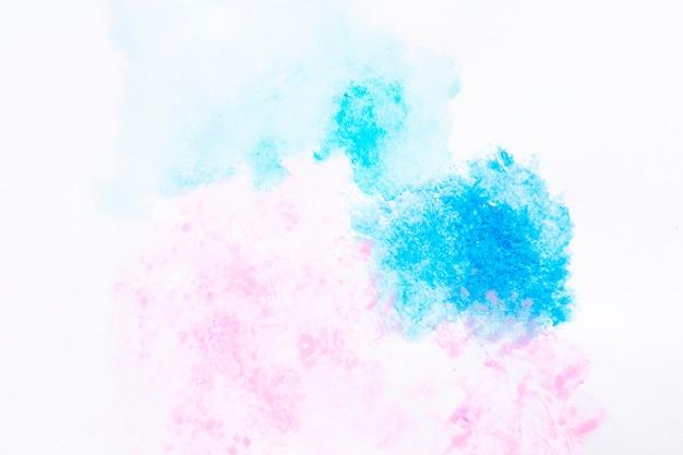 水彩のピンクとブルーのスプラッシュ