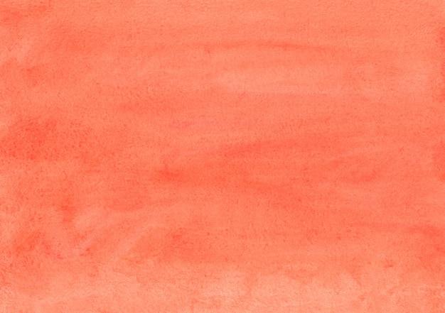 수채화 핑크와 오렌지 배경 손으로 그린. 종이에 수채화 당근 색 얼룩.