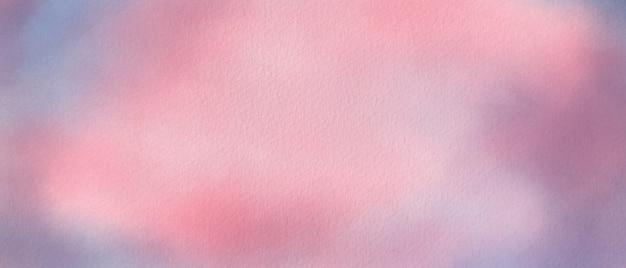キャンバス紙に水彩ピンクと紫の背景。抽象的な水彩イラスト。
