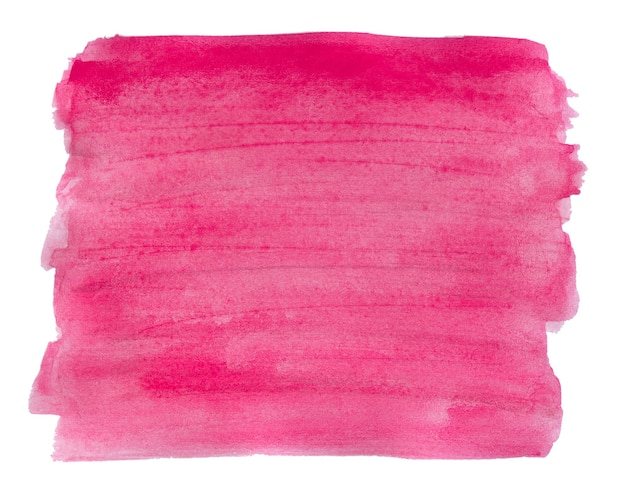 Watercolor pink background texture isolated on white