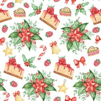 수채화 포 인 세 티아 원활한 패턴