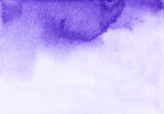 Watercolor purple and white background texture.