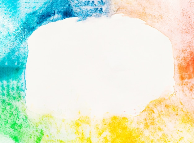 Watercolor rainbow with copyspace background