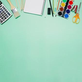 Watercolor, scissors and brush