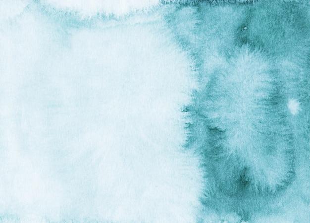 Акварель море синий градиент фоновой текстуры. пятна на бумаге, ручная роспись