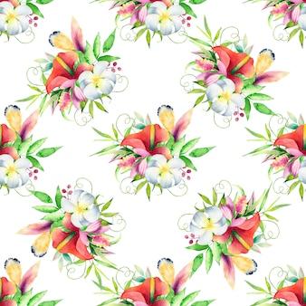 Watercolor seamless pattern. modern stylish texture.