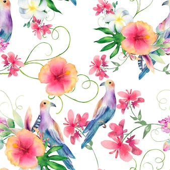 Watercolor seamless pattern. modern stylish texture.