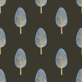Watercolor seamless pattern trees in the scandinavian style