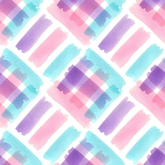 Watercolor seamless pattern with colorful strokes. modern textile design