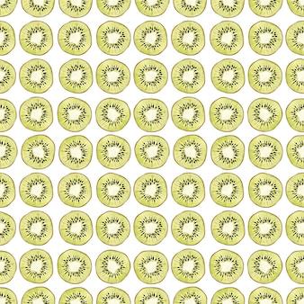 꽃, 익은 과일, 가지와 키위 나무의 잎 수채화 원활한 패턴