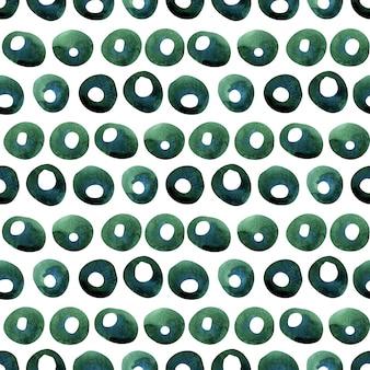 Акварель бесшовные модели с лимонными зелеными ветвями и абстрактными пятнами