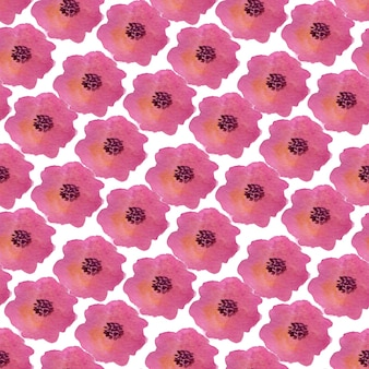 Watercolor seamless pattern with poppy flowers. can be used for wrapping, textile and package design.
