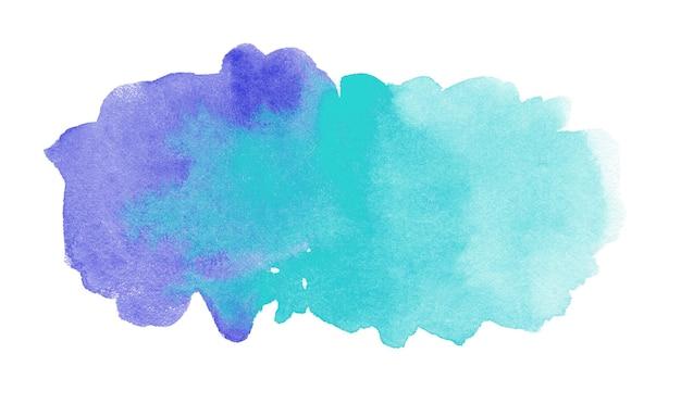 白で隔離の水彩画の形