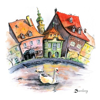 Watercolor sketch of klein-venedig