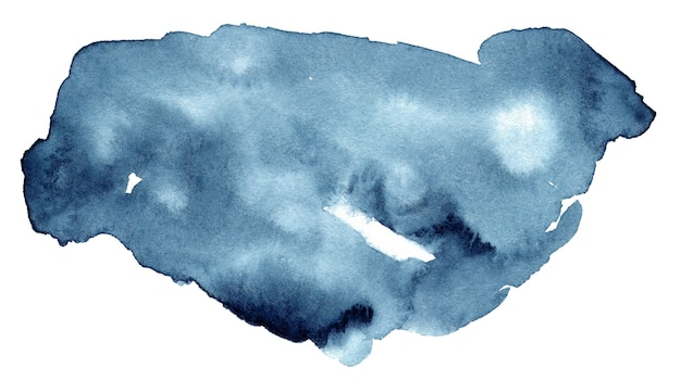 白で隔離の水彩スプラッシュ
