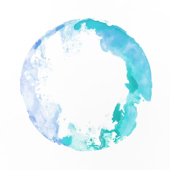 Watercolor staint blue