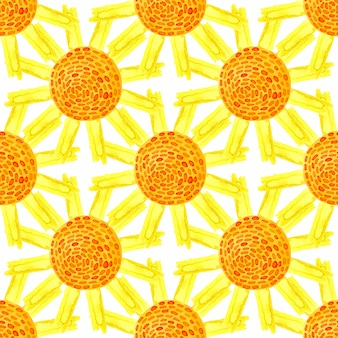 Watercolor summer seamless pattern. can be used for wrapping, textile, wallpaper and package natural product design