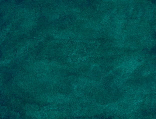Watercolor teal blue-green background painting. watercolor dark blue .