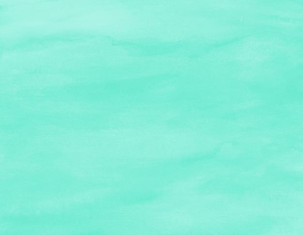Акварельная текстура бирюзово-синий мятный цвет морской волны фон минимальная кисть искусство на бумаге