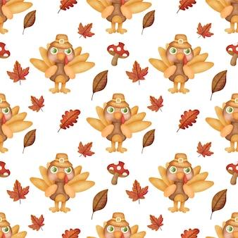 Watercolor thanksgiving  seamless pattern