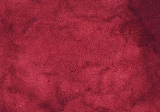 Watercolor vintage crimson painting