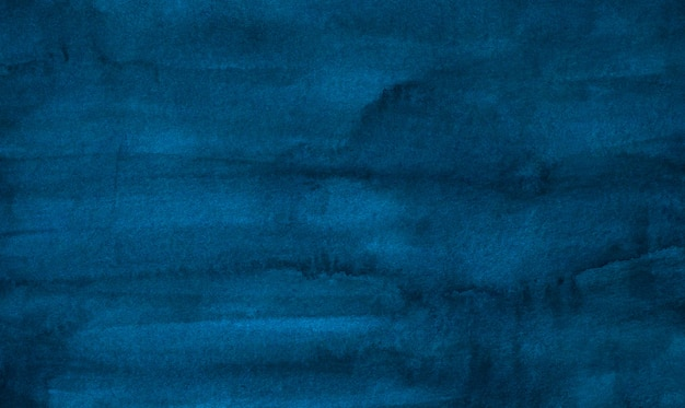 Watercolor vintage deep blue stains background texture. aquarelle abstract brush strokes on paper.