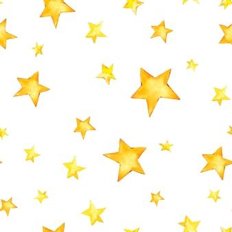 Акварельные старинные звезды