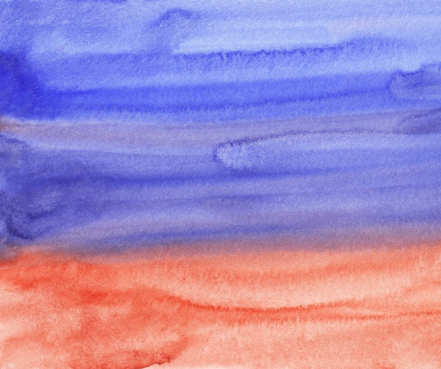 Watercolor violet blue and red background painting
